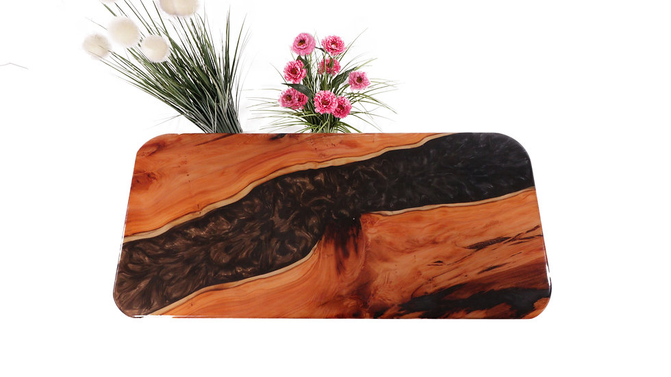 Brown Faded Resin River Table