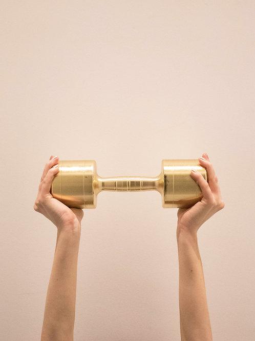 3KG PAIR: GOLD DUMBBELLS