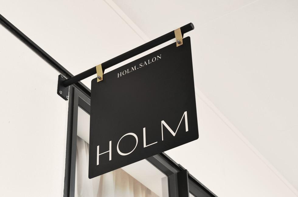 HOLM Shop Sign