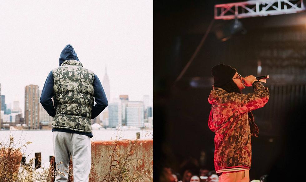 Huufer Down Jacket Camoflage Fabric