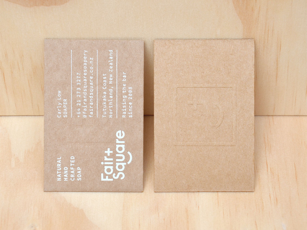 Fair and Square Soap Branding and Business Cards