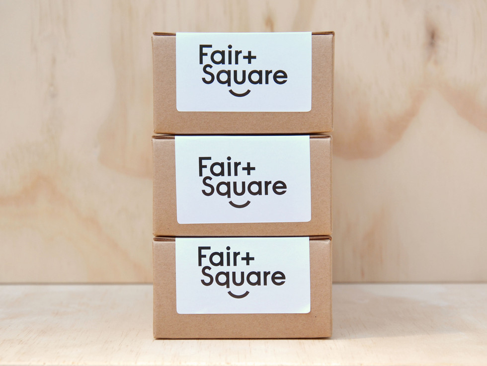 Fair and Square Soap Sample Box Branding and Packaging