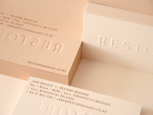 Restore Massage Identity and Business Cards