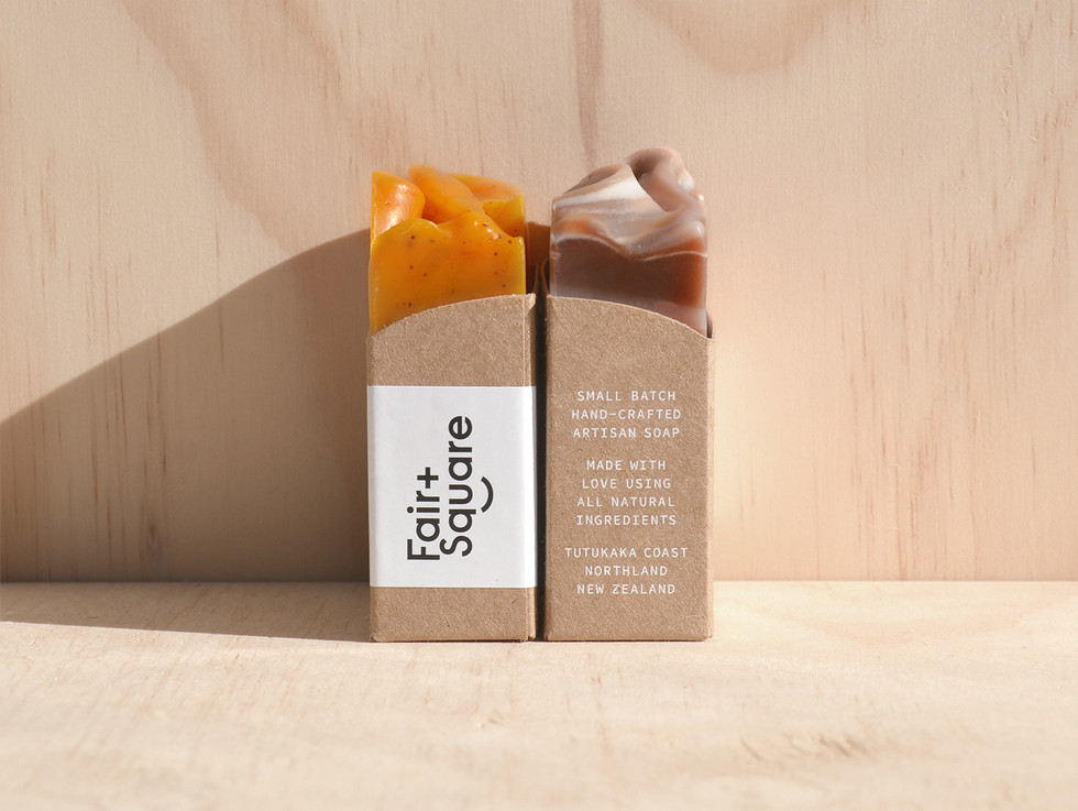 Fair and Square Soap Branding and Packaging