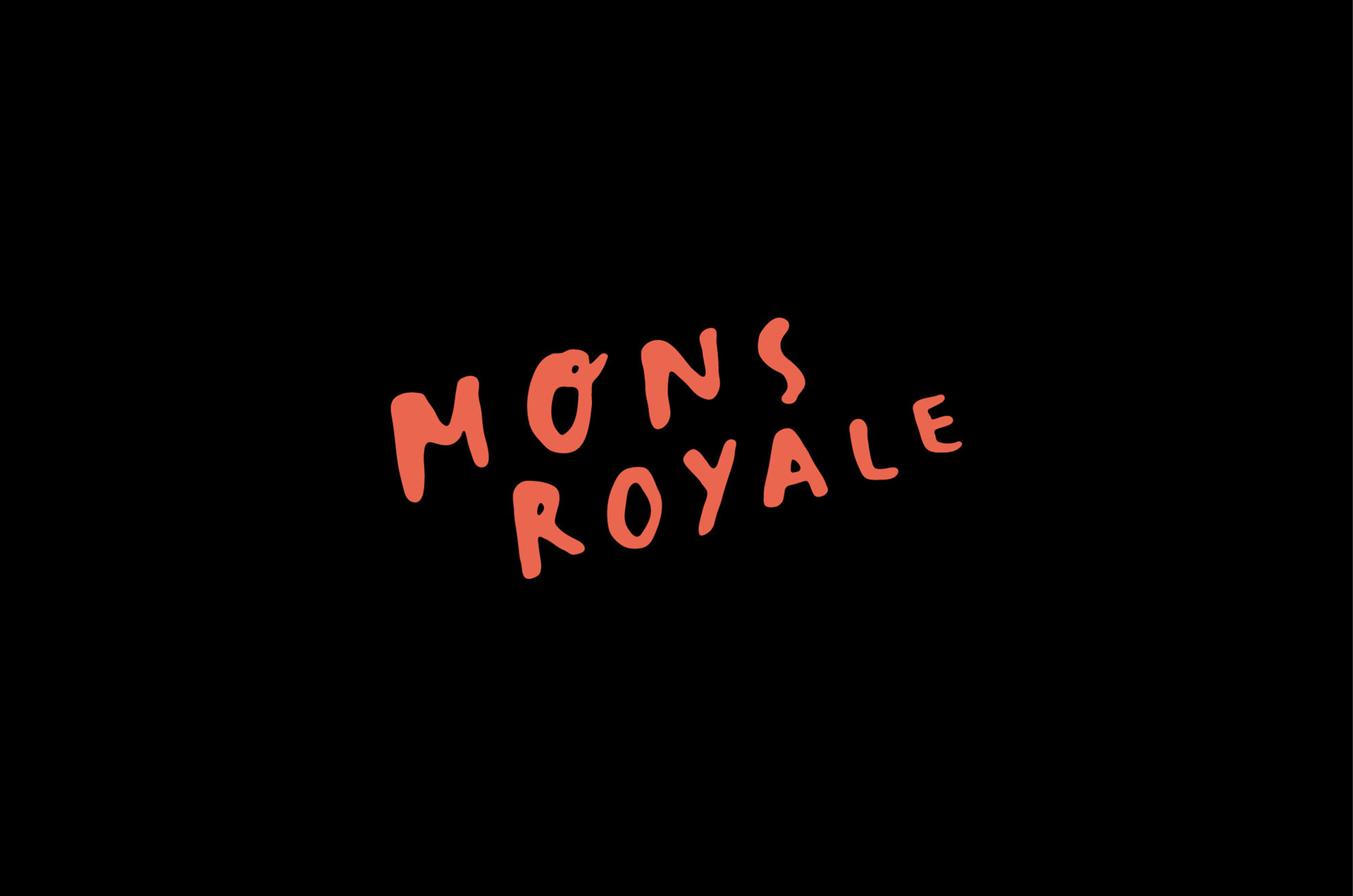 Mons Royale Handrawn Logo Placement Print