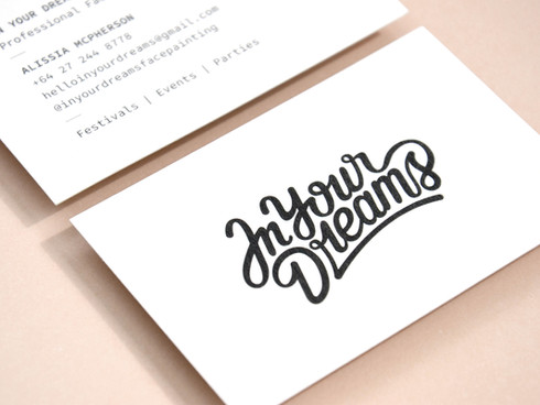 In Your Dreams Typography and Business Card Design