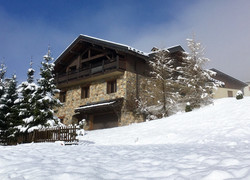 Exterior of chalet