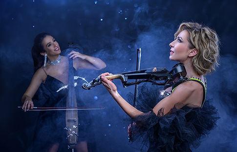 damen-band-duo-e-geige-electric-cello-dj