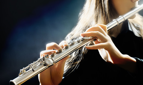Flute music playing flutist musician per