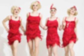Walking Act, Showact, Damen Band, Saxophon Quartett, Musik, Show, Showeinlage, Event, Entertainment, Österreich, Wien, Salzburg, Künstleragentur Sugar Office, www.sugar-office.com, Manu Gamper