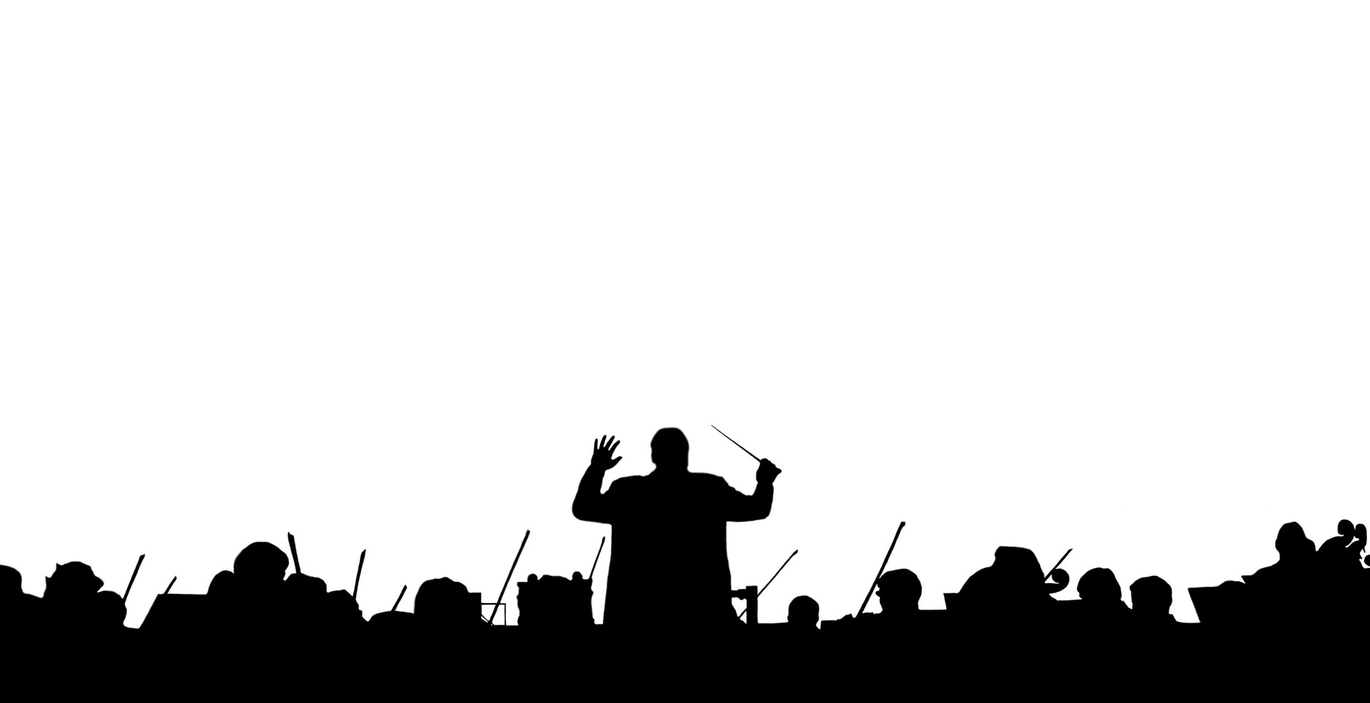 Symphony Orchestra in the form of a silh