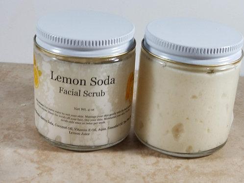 Natural Lemon Soda Facial Scrub