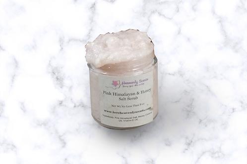 Pink Himalayan & Honey Salt Scrub