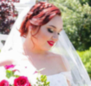 hair, style, red, updo, bridal, bride, wedding, lips, head, braid, stylist, side, up, do, style, wedding, married, marriage, flowers, roses, makeup, make, up, smoky, eye, weddings, boston, local, near, me, traveling, travel, on, location, veil, book, now,