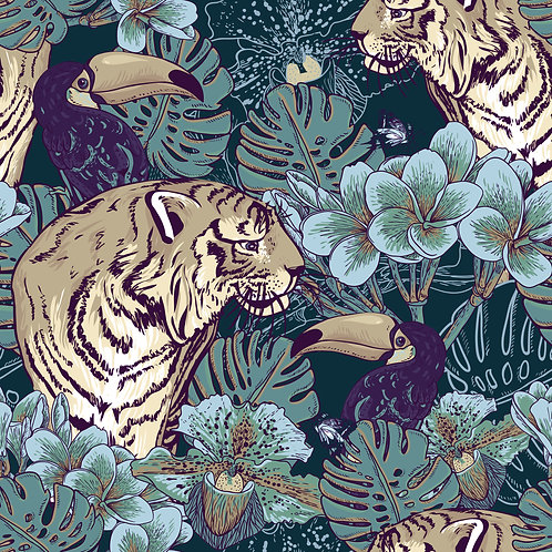 Tiger and toucan - Wild Forest