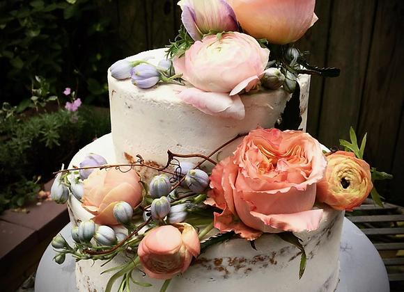 TWO-TIERED CAKE (Non-Vegan or Vegan)