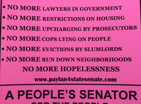 This says it all about my goals as the Next State Senator from District 19