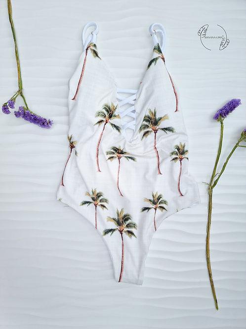 Trikini Palm Trees Cream Reversível