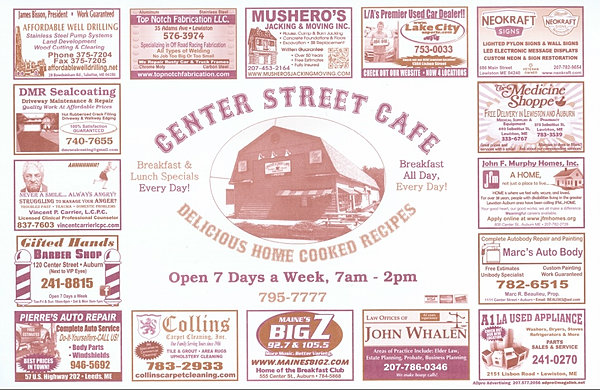 Placemat Advertising Maine Ad Pro Advertising