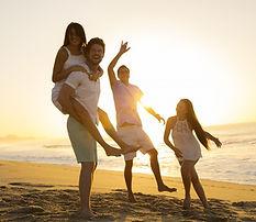 Beach-Family at sunset
