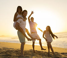 Beach-Family at sunset