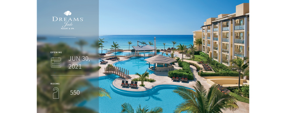Located in Riviera Cancun, Dreams Jade Resort & Spa is set along 2,600 feet of pure crystal white sand and refreshing azure waters, Combining understated sophistication with Unlimited-Luxury® amenities, it redefines all-inclusive and offers the perfect escape for couples, families and friends. With impressive features including the high-end gym, luxurious spa and the electrifying Core Zone along with gourmet fine dining restaurants and mini-golf course.