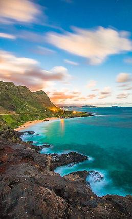ariel shot of Hawaiian islands