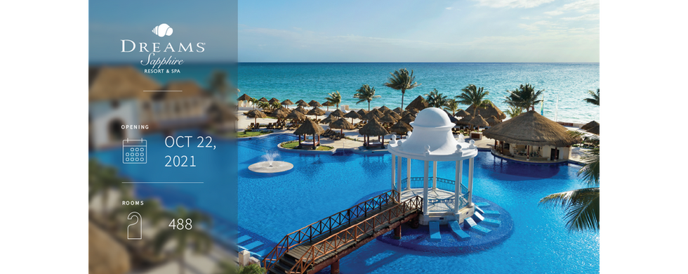 Only 15 minutes beyond the cancun airport, the gem this is Dreams Saphire Resort & Spa awaits. Our spacious, easily accessible resort is set in a tropical landscape of palm trees, soft sand and sparkling azure sea, offering Unlimited-Luxury® to families, couples and friends. Combining a AAA Four Diamond award along with luxurious amenities, Dreams Sapphire Resort & Spa redefines all-inclusive and provides the perfect, worry-free escape.
