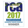 RCA 2017 Recommend Award logo