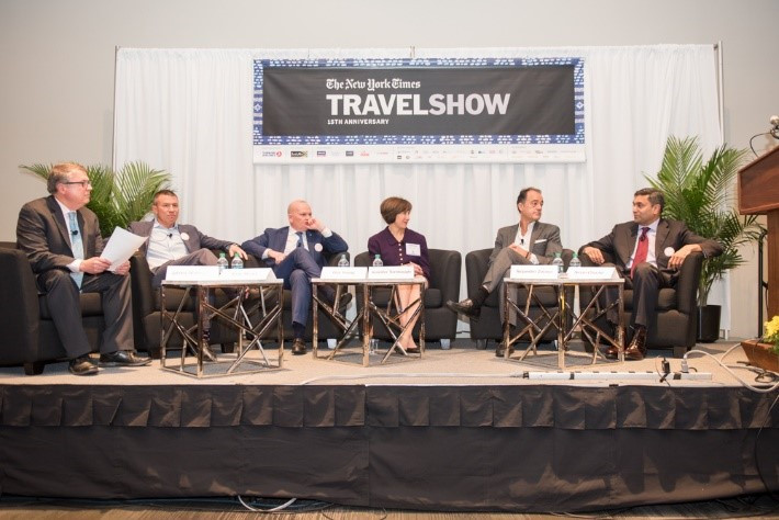 Panel at The New York Times Travel Show