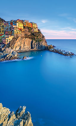 Houses on a cliff