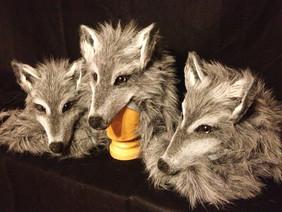 Masque tête de loup spectacle
