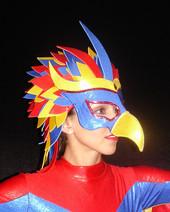 Masques, casques, coiffes, spectacles
