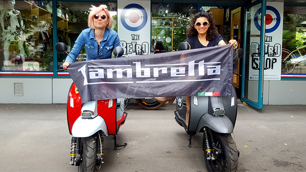 Taste the freedom! Ride a scooter! Magazinul THE RETRO SHOP da startul weekend-ului aniversar LAMBRE