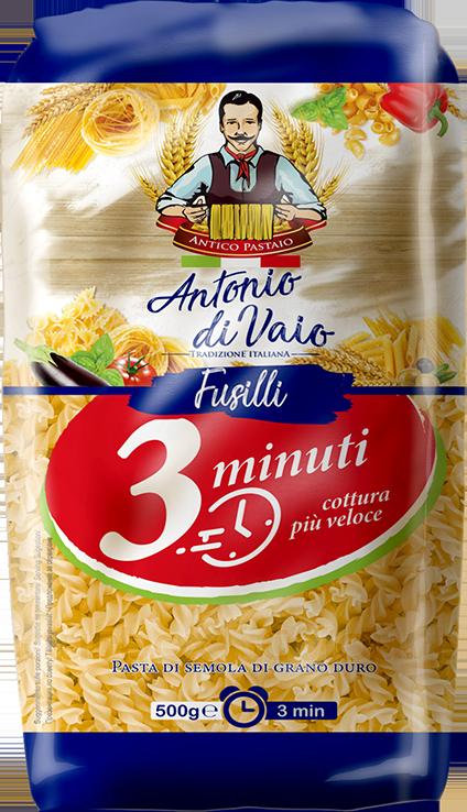 Gustul unic si calitatea pastelor din grau dur Antonio di Vaio - in doar 3 minute!