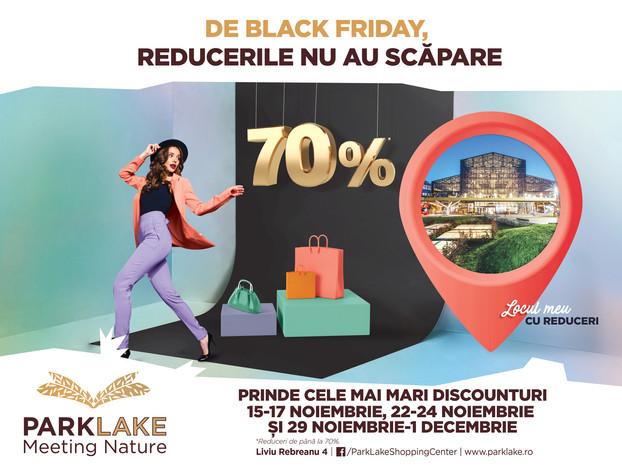 De Black Friday, reducerile nu au scapare! Trei weekend-uri de super reduceri la ParkLake Shopping C