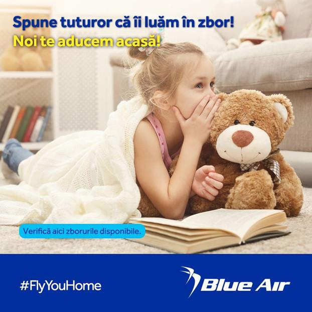 """Blue Air introduce programul """"Te aducem acasa"""", Inainte de suspendarea zborurilor regulate, Incepan"""