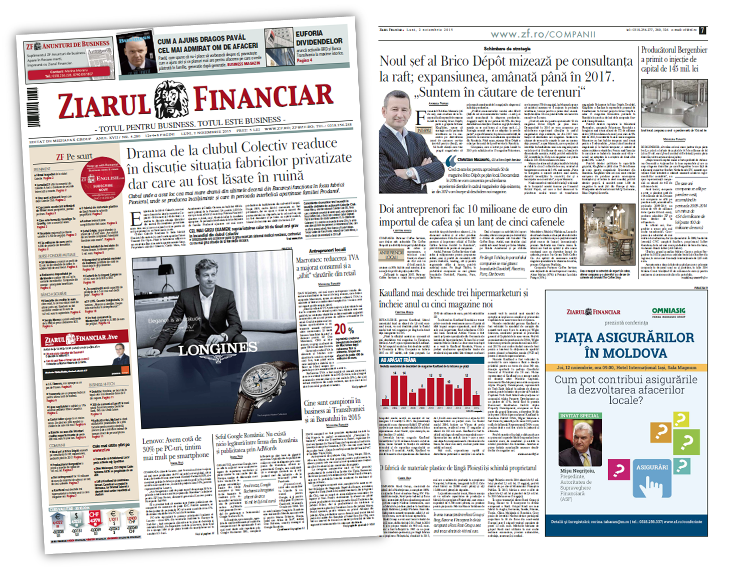 Ziarul Financiar, November 2015