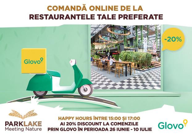 ParkLake si Glovo lanseaza un parteneriat ce ofera 20% discount la comenzile pentru acasa