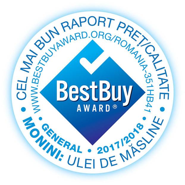 Monini a primit medalia Best Buy Award pentru gama de ulei de masline extra virgin