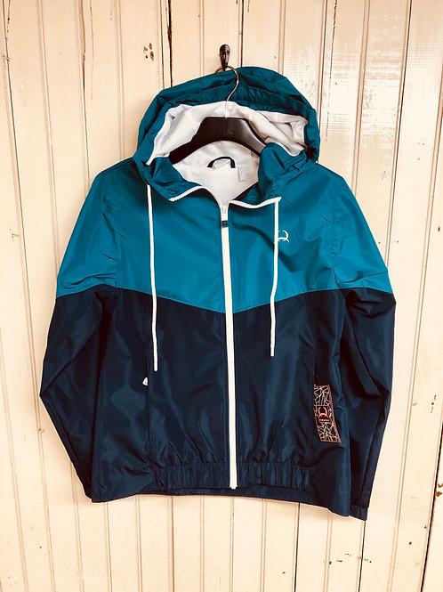 Cinch Medium Weight Full Zip Rain Jacket Turquoise/Blue