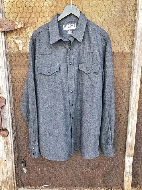 Gray Snap Button Top