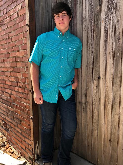 Wrangler Turquoise Short Sleeve Top