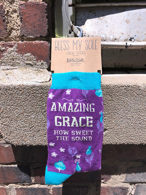 Amazing Grace How Sweet The Sound Kerusso Sock