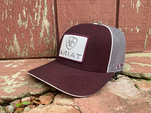 Maroon/Gray Ariat Cap