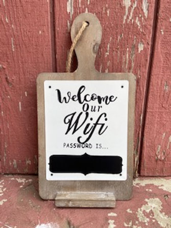 Welcome to Our Wifi Chalkboard Sign