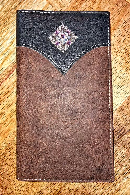 Dark Brown & Black Roper Wallet