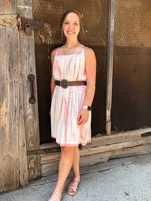 Blush Tie-Dye Dress