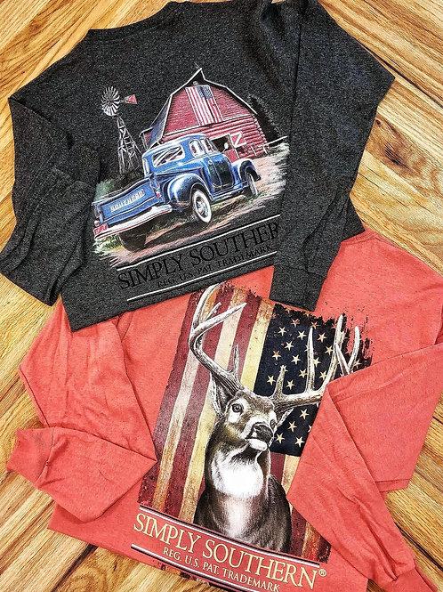 American Red Barn Long Sleeve Tee