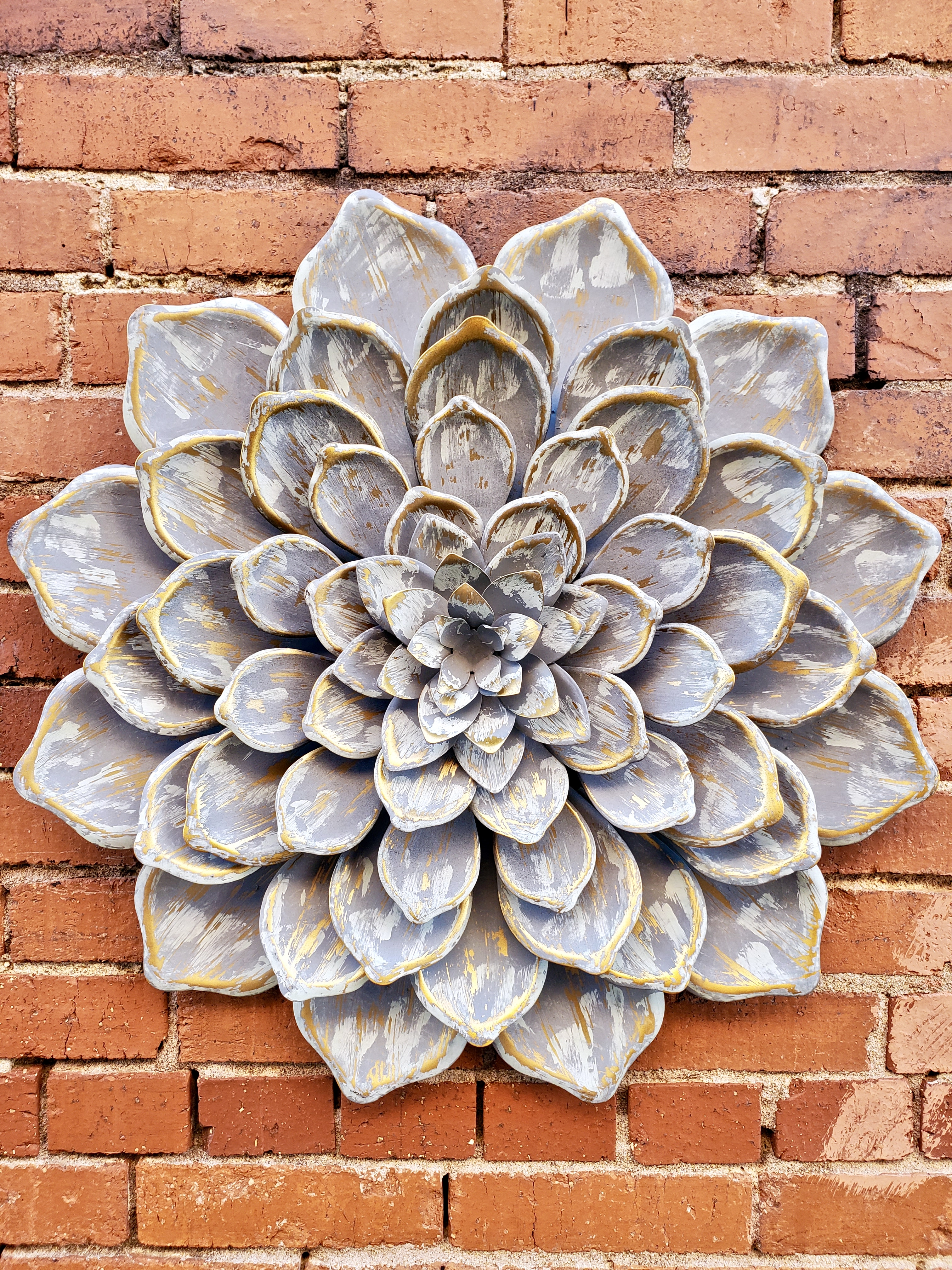 Large Metal Flower